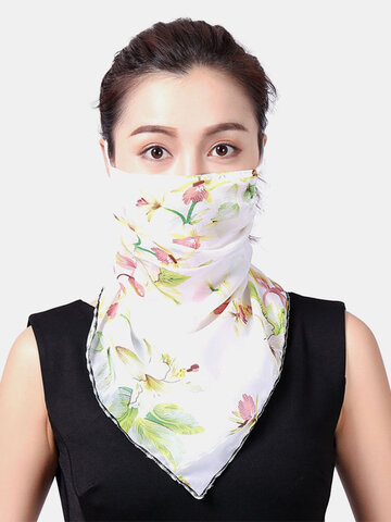 Breathable Printing Masks Neck Protection Sunscreen Scarf