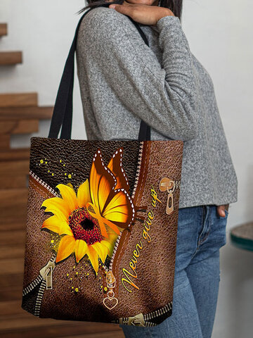 Calico Butterfly Pattern Tote