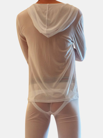 Breathable Smooth Mesh Pajamas Set