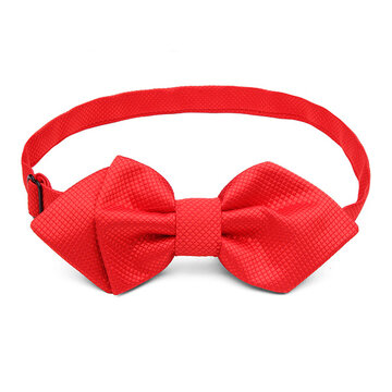 Floral Homochromy Bow Tie Red Sharp Corner Groom Wedding Party Accessories