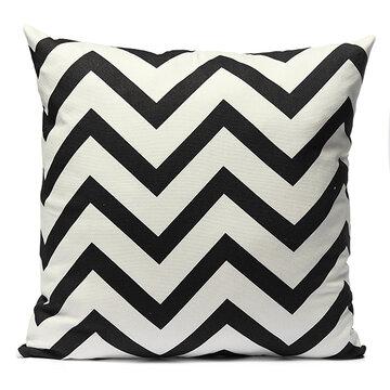 <US Instock> Decorative Throw Pillow Case Cushion Cover 18x18 Inch Simple Linen Pillowslip Pillow Sofa Patio Chair Home Car