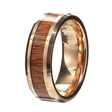 Classic 8mm Width Wood Tungten Ring