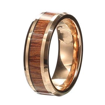Классическое кольцо шириной 8 мм Wood Tungten