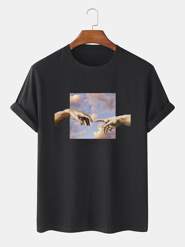 100% Cotton Oil Painting T-Shirt