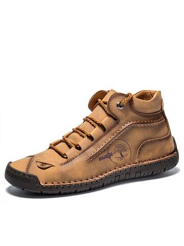 Menico Мужская нескользящая кожа с ручной вышивкой Ботинки