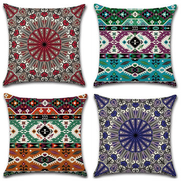 <US Instock> Mandala Indian Bohemian Cotton Linen Cushion Cover