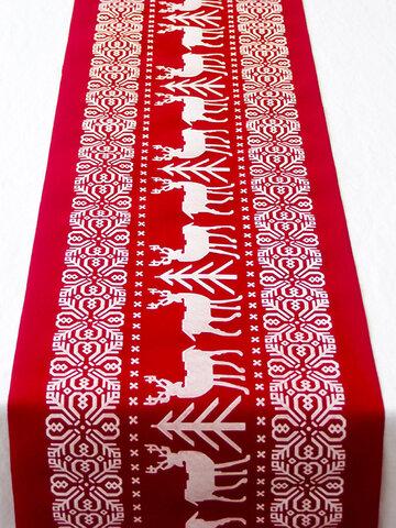 Christmas Linen  Decorative Tablecloth