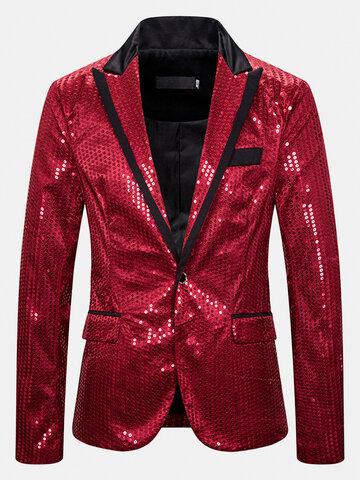 Sequins Lapel Party Suit Jackets
