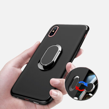 Tough TPU Phone Case Ring Holder Car Magnetic Back Cover