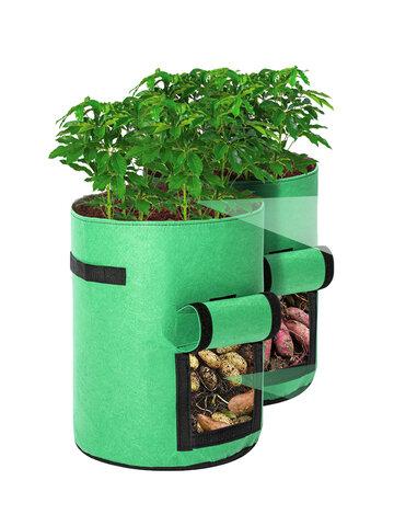 2Pcs Tvird Potato Grow Bags Potato Growing Bags Potato Planting Bag With Flap And Handles For Potato And Tomato