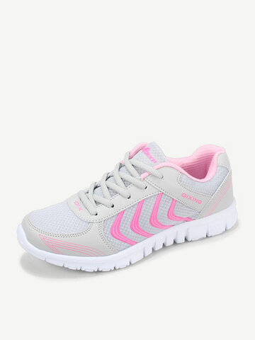 Sport Breathable Mesh Lace UP Sneakers