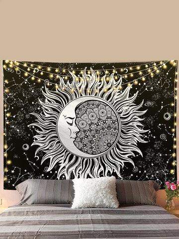Sun Moon Mandala Pattern Tapestry Wall Hanging Tapestries Living Room Bedroom Decoration