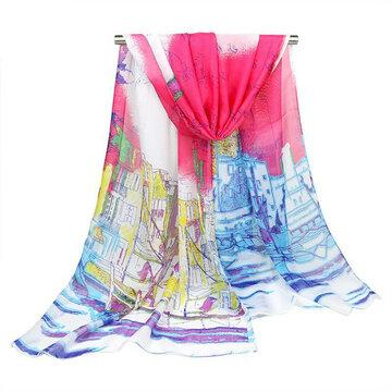 الأوشحة النسائية زيتية طباعة شال