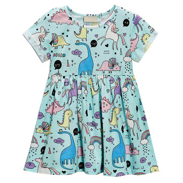 Animal Girls Casual Dress For 1Y-9Y