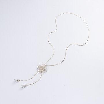 Luxury Opal Flower Long Necklaces