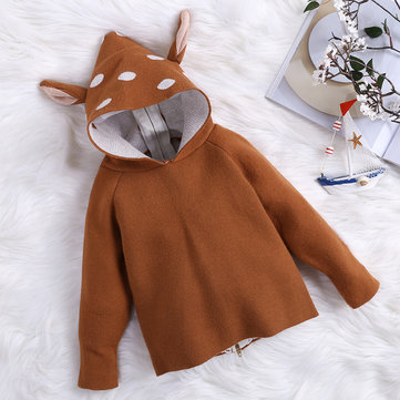 Deer Shape Sweater Coats For 1Y-9Y