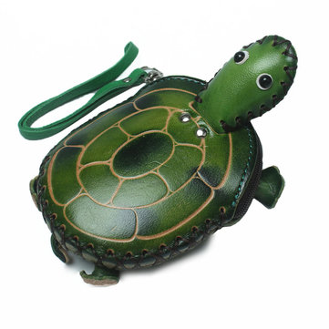 Women Genuine Leather Little Turtle Coin Purse Key Bag