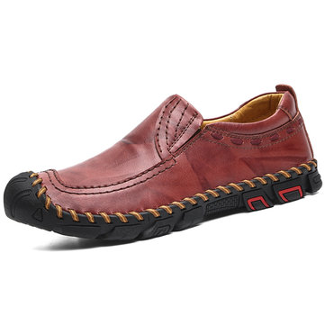 Men Non Slip Soft Sole Casual Leather Shoes