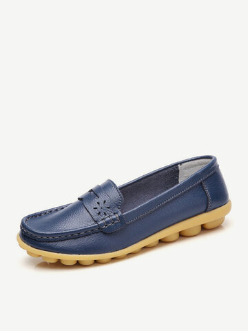 Big Size Pattern Leather Shoes