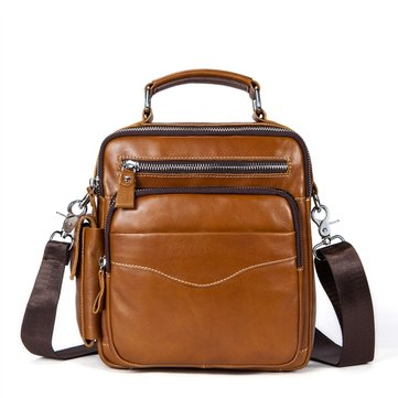 Genuine Leather Business Crossbody Bag For Men фото