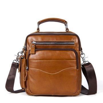 Genuine Leather Business Crossbody Bag For Men