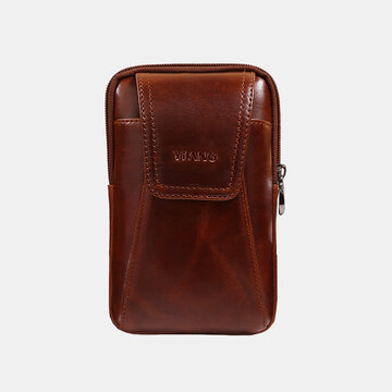 Men Genuine Leather Phone Belt Bag