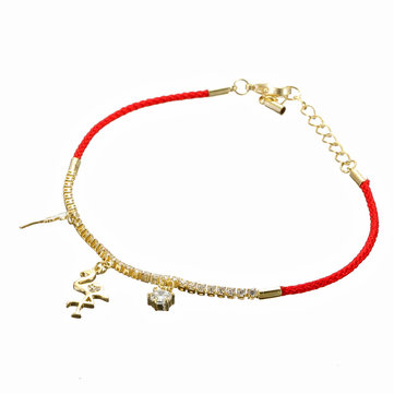 JASSY® 18K Gold Red Rope Charm Bracelets