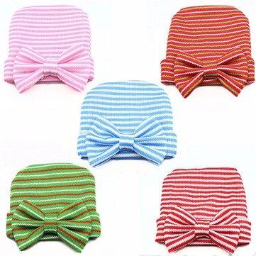 Bonnet à rayures mignon pour filles Soft