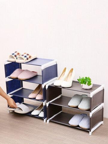 رف أحذية مُجمَّع غير منسوج