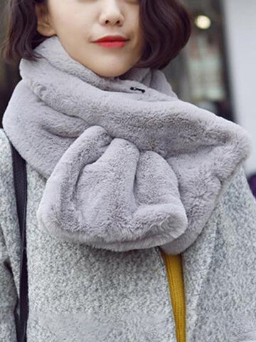 Women Warm Windproof Thick Neck Scarf