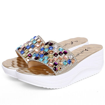 The Set Auger Soft Sole Platforms Slippers
