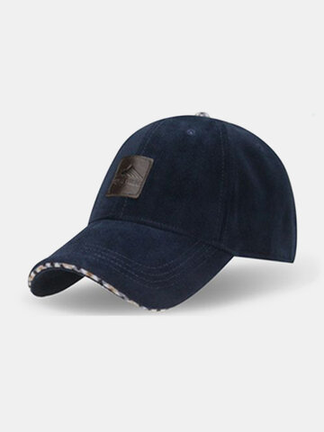 Classic Style Warm Solid Baseball Hat