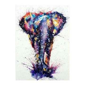 15D Diamond Elephant Painting
