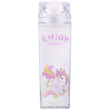 Cartoon Unicorn Printed Water Bottle