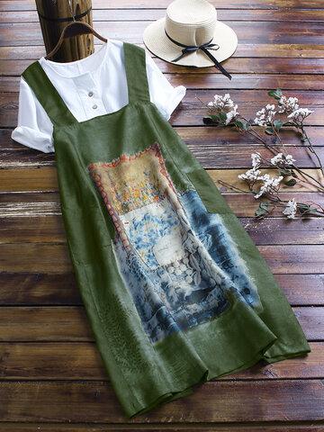 Painting Print Vintage Dress