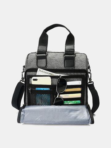 Oxford Clutch Bag Casual Business Multi-pocket Single-shoulder Crossbody Bag For Men