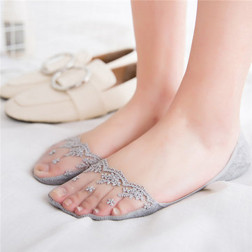 Lace Cotton Ankle Socks Summer Mesh Invisible Socks