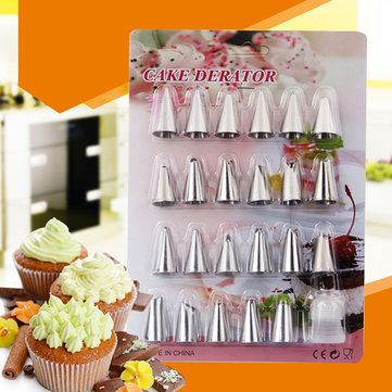 24Pcs Baking Tools Stainless Steel Decorators Blow Molding Tools Converters Set Biaohua Tools