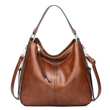Women Large Capacity Handbag PU Leather Tote Bag