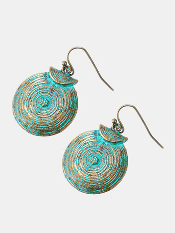 Retro Growth Ring Dangle Earrings