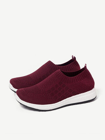 Mesh Hollow Elastic Casual Sneakers