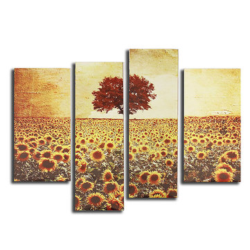 4PCS Unframed Landscape Girassol Art Oil Print Painting Canvas Home Decor