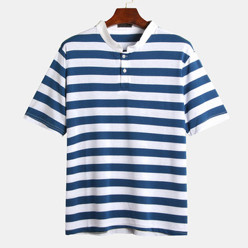 Camisas de Glof listrado de cor de Hit Mens