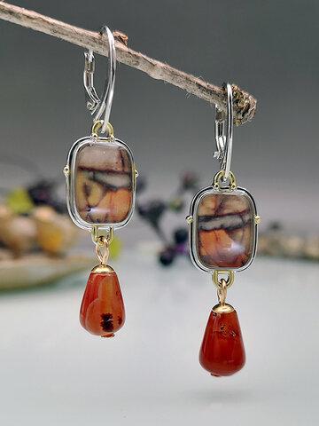 Drop-Shaped Dangle Earrings