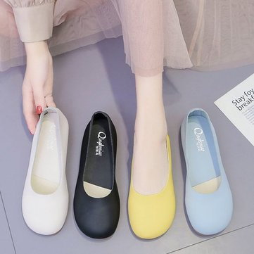New Grandmother Shoes Female Flat Bottom Retro Shallow Mouth Pregnant Women Shoes Single Shoes Sen Female Wild Baby Shoes