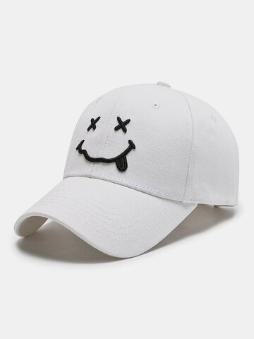 Women & Men Smile Embroidery Pattern Baseball Hat