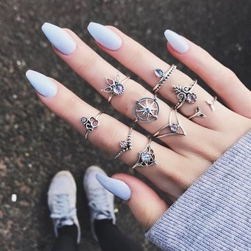 9 Pcs Bohemian Ring Sets