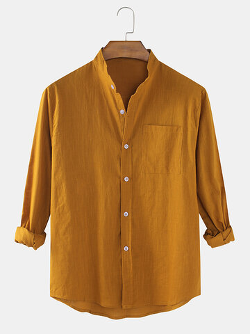 Cotton & Line Solid Color Shirt