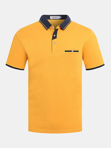 Soft Knitted Cotton Casual Golf Shirt