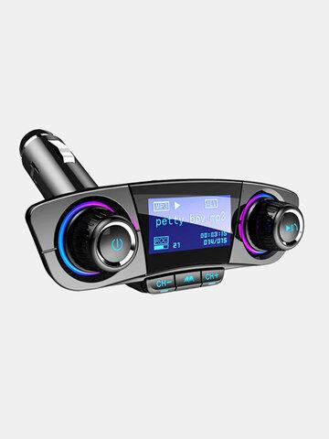 ワイヤレスBluetoothハンズフリー通話デュアルUSB2.1A高速充電器カーキットFMトランスミッターカーMP3プレーヤーラジオアダプターをアップグレードする